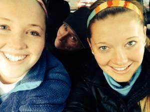 Selfie of the three of us Pre Turkey Trot
